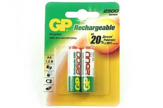 Аккумулятор 250AAHC-BL2 HR6 AA 2500 mAh (2 шт.), GP Batteries