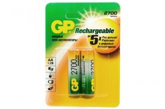 Аккумулятор 270AAHC-BL2 AA 2700 mAh (2 шт.), GP Batteries