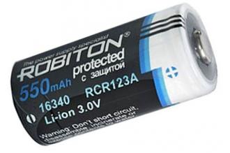 Аккумулятор Li-ion 16340 (3,0 В; 550 мАч) Robiton