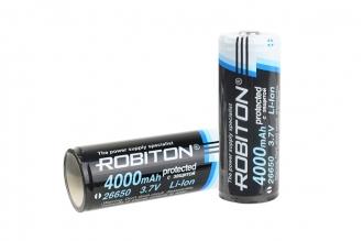Аккумулятор Li-ion 26650 с защитой (3,7 В; 4000 мАч) Robiton