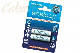 Аккумуляторы Eneloop AA (2 шт., Ni-Mh, 1900 mAh) Panasonic, Япония