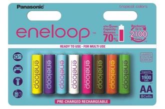 Аккумуляторы Eneloop AA Colors (8 шт., Ni-Mh, 1900 mAh) Panasonic, Япония