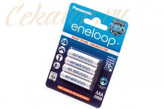 Аккумуляторы Eneloop AAA (4 шт., Ni-Mh, 750 mAh) Panasonic, Япония
