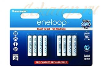Аккумуляторы Eneloop AAA (8 шт., Ni-Mh, 750 mAh) Panasonic, Япония