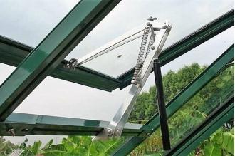 Автоматический проветриватель теплиц с двумя пружинами