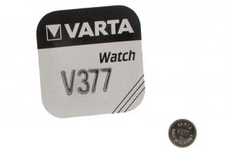Батарейка серебряно-цинковая часовая 377, Varta