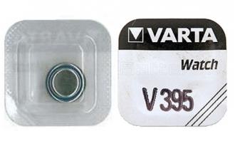 Батарейка серебряно-цинковая часовая 395, Varta