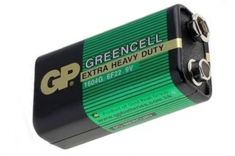 Батарейка крона Greencell 1604G/6F22 SR1, GP Batteries