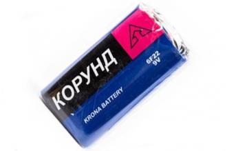 Батарейка крона 6F22 SR1 Корунд