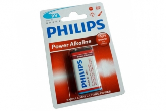 Батарейка крона Power Alkaline 6LR61 BL1 Philips, Нидерланды