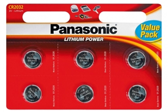 Батарейка Lithium Power CR-2032EL/6BP CR2032 (6 шт.), Panasonic, Япония