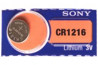 Батарейка литиевая CR1216 (1 шт.) Sony, Япония