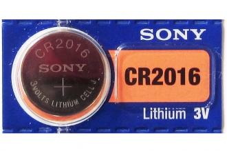 Батарейка литиевая CR2016 (1 шт.) Sony, Япония