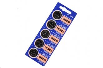 Батарейка литиевая CR2025 (5 шт.), Sony, Япония