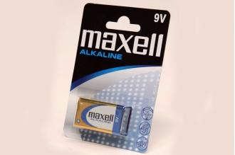 Батарейка крона Alkaline 6LR61 BL1, Maxell, Япония