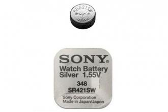Батарейка серебряно-цинковая часовая SR421SW 348, Sony