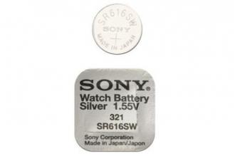 Батарейка серебряно-цинковая SR616SW 321, Sony