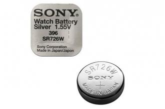Батарейка серебряно-цинковая часовая SR726W 396, Sony