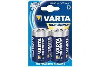 Батарейка тип D High Energy 4920 LR20 (2 шт.), Varta, Германия