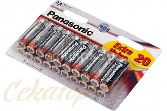 Элементы питания щелочные Everyday Power AA 20 шт. Panasonic, Япония