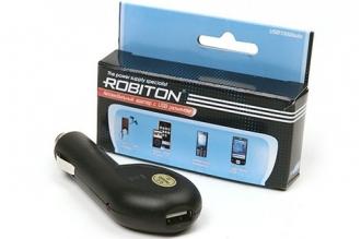Блок питания автомобильный USB1000/Auto 1000мА, Robiton