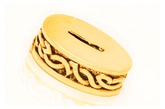 Больстер для рукояти ножа «Овальный с узором» 620 (латунь)