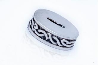 Больстер для рукояти ножа «Овальный с узором» 620 (мельхиор)