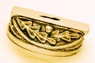 Больстер для рукояти ножа «Дубовые листья» 640 (латунь)