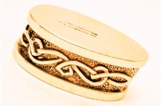 Больстер для рукояти ножа «Фантазийный орнамент» 646 (латунь)