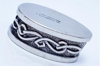 Больстер для рукояти ножа «Фантазийный орнамент» 646 (мельхиор)