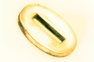 Больстер для рукояти ножа глянцевый узкий 623 (латунь)
