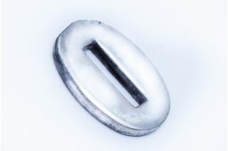 Больстер для рукояти ножа глянцевый узкий 624 (мельхиор)