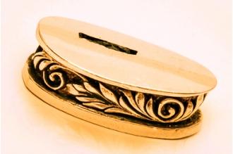 Больстер для рукояти ножа «Изогнутая ветвь» 631 (латунь)