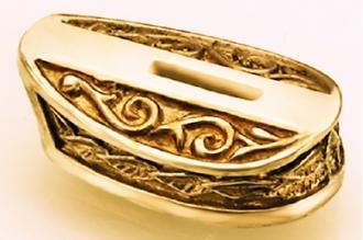 Больстер для рукояти ножа «Листья» 641 (латунь)