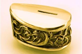 Больстер для рукояти ножа «Растительный орнамент» 632 (латунь)