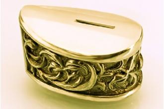 Больстер для рукояти ножа «Растительный орнамент» 633 (латунь)