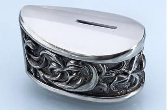 Больстер для рукояти ножа «Растительный орнамент» 633 (мельхиор)