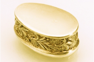 Больстер для рукояти ножа «Растительный орнамент с трилистником» 647 (латунь)
