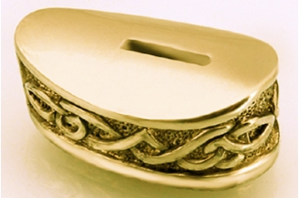 Больстер для рукояти ножа «Зигзаги» 634 (латунь)