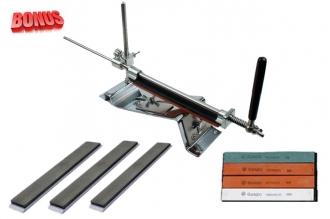 Точильный станок Ganzo Touch Pro Steel и алмазные бруски 100 400 и 1200