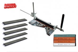 Ganzo Touch Pro Steel и алмазные бруски 100, 280, 1200, 2500, 8000
