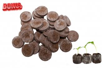 Бонус-пак: кокосовые таблетки Jiffy-7C 45 мм в количестве 100 шт. по спец. цене!
