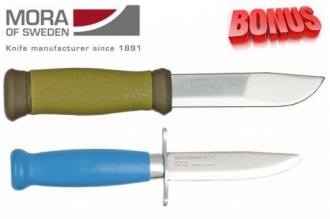 Бонус-пак: ножи Mora 2000 и Mora Scout 39 Safe Blue