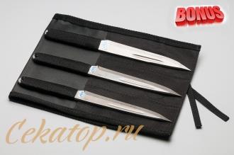 """Бонус-пак: три метательных ножа """"Гвоздь"""" АиР и скатка для ножей"""