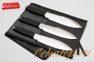 """Бонус-пак: три метательных ножа """"Катран"""" АиР и скатка для ножей"""
