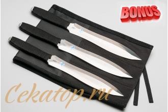 """Бонус-пак: три метательных ножа """"Луч Б"""" АиР и скатка для ножей"""