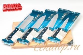 Японские ножи Tojiro Western Knife и бамбуковая разделочная доска