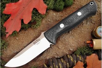 Нож Bravo 1 3VR (рукоять черный углепластик) Bark River, США