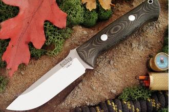 Нож Bravo 1 3VR (рукоять черное с зеленым) Bark River, США
