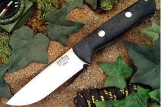 Нож Bravo 1 3VR (рукоять черная микарта FHG) Bark River, США